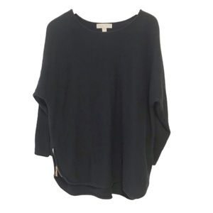 Michael Michael Kors knit sweater zip sides plus